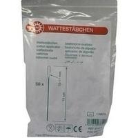Wattestaebchen 10-11mm plastic, 50 ST, Nobamed Paul Danz AG