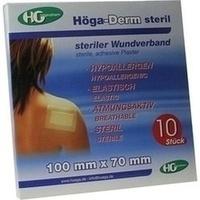 Hoega-Derm steriles Pflaster 100mmx70mm, 10 ST, Höga-Pharm G.Höcherl