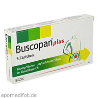 BUSCOPAN PLUS, 5 ST, Sanofi-Aventis Deutschland GmbH GB Selbstmedikation /Consumer-Care