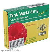 Zink Verla 5mg Lutschtabletten Himbeer, 50 ST, Hecht Pharma GmbH GB - Handelsware