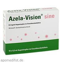 Azela-Vision sine 0.5mg/ml Augentropfen i.Einzeld., 10X0.3 ML, Omnivision GmbH