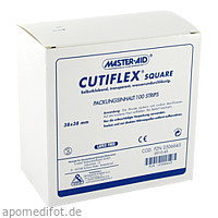 CUTIFLEX SQUARE 38x38mm Strips, 100 ST, Trusetal Verbandstoffwerk GmbH