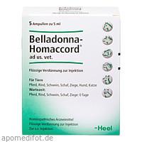 BELLADONNA HOMACCORD ad us.vet.Ampullen, 5 ST, Biologische Heilmittel Heel GmbH