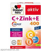 Doppelherz C+Zink+E DEPOT, 40 ST, Queisser Pharma GmbH & Co. KG