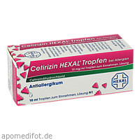 Cetirizin Hexal Tropfen bei Allergien, 10 ML, HEXAL AG