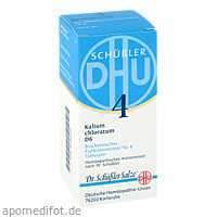 BIOCHEMIE DHU 4 KALIUM CHLORATUM D 6, 200 ST, Dhu-Arzneimittel GmbH & Co. KG