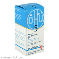 BIOCHEMIE DHU 5 KALIUM PHOSPHORICUM D 6, 200 ST, Dhu-Arzneimittel GmbH & Co. KG