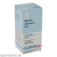 BIOCHEMIE DHU 8 NATRIUM CHLORATUM D12, 200 ST, Dhu-Arzneimittel GmbH & Co. KG