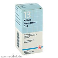 BIOCHEMIE DHU 13 KALIUM ARSENICOSUM D12, 200 ST, Dhu-Arzneimittel GmbH & Co. KG