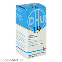 BIOCHEMIE DHU 19 CUPRUM ARSENICOSUM D 6, 200 ST, Dhu-Arzneimittel GmbH & Co. KG