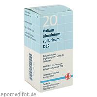 BIOCHEMIE DHU 20 KALIUM ALUMINIUM SULFURICUM D12, 200 ST, Dhu-Arzneimittel GmbH & Co. KG