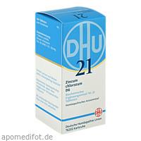 BIOCHEMIE DHU 21 ZINCUM CHLORATUM D 6, 200 ST, Dhu-Arzneimittel GmbH & Co. KG
