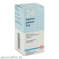 BIOCHEMIE DHU 24 ARSENUM JODATUM D12, 200 ST, Dhu-Arzneimittel GmbH & Co. KG