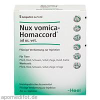 NUX VOMICA HOMACCORD ad us.vet.Ampullen, 5 ST, Biologische Heilmittel Heel GmbH