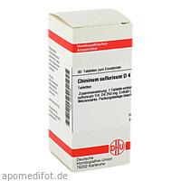 CHININUM SULF D 4, 80 ST, Dhu-Arzneimittel GmbH & Co. KG