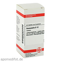 HAMAMELIS D12, 80 ST, Dhu-Arzneimittel GmbH & Co. KG