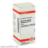 MERCURIUS SOLUB HAHNEM D10, 80 ST, Dhu-Arzneimittel GmbH & Co. KG