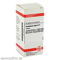 SAMBUCUS NIGRA D 4, 80 ST, Dhu-Arzneimittel GmbH & Co. KG