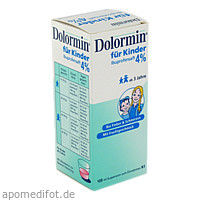 DOLORMIN für Kinder 4% Ibuprofen Suspension, 100 ML, Johnson & Johnson GmbH (OTC)