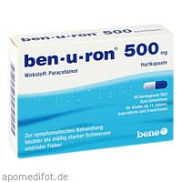 ben-u-ron 500mg Kapseln, 20 ST, Bene Arzneimittel GmbH
