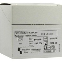 Ambix Safe-CAN gebogen 22Gx37mm, 10 ST, Fresenius Kabi Deutschland GmbH