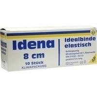 Idena (AP) Idealbinde weiß m.n.ausfr.Schlingk. 8cm, 10 ST, Erena Verbandstoffe GmbH & Co. KG