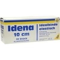 Idena (AP) Idealbinde weiß m.n.ausfr.Schlingk.10cm, 10 ST, Erena Verbandstoffe GmbH & Co. KG