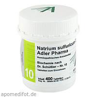 Biochemie Adler 10 Natrium Sulfuricum D 6 Adler Ph, 400 ST, Adler Pharma Produktion und Vertrieb GmbH