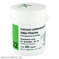 Biochemie Adler 22 Calcium Carbonicum D12 Adler Ph, 400 ST, Adler Pharma Produktion und Vertrieb GmbH