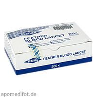 Blutlanzetten steril Feather einzeln, 200X1 ST, Careliv Produkte Ohg