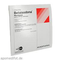 BETAISODONA WUNDGAZE 10X10, 10 Stück, Mundipharma GmbH