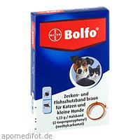 BOLFO Flohschutzband braun f.kleine Hunde/Katzen, 1 ST, Bayer Vital GmbH GB - Tiergesundheit