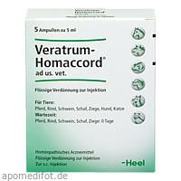 VERATRUM HOMACCORD ad us.vet.Ampullen, 5 ST, Biologische Heilmittel Heel GmbH
