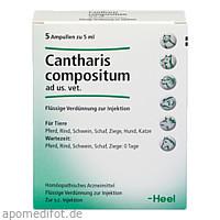 CANTHARIS COMPOSITUM ad us.vet.Ampullen, 5 ST, Biologische Heilmittel Heel GmbH