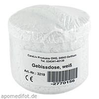 Gebissdose weiß mit Einsatz und Deckel, 1 ST, Careliv Produkte Ohg
