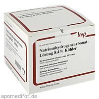 Natriumhydrogencarbonat-Lösung 8.4% Köhler, 25X20 ML, Köhler Pharma GmbH
