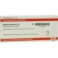ACIDUM SULFURICUM D 12 Ampullen, 10X1 ML, DHU-Arzneimittel GmbH & Co. KG