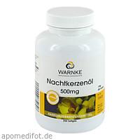 Nachtkerzenöl 500mg, 250 ST, Warnke Vitalstoffe GmbH