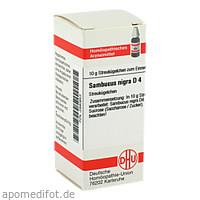 SAMBUCUS NIGRA D 4, 10 G, Dhu-Arzneimittel GmbH & Co. KG