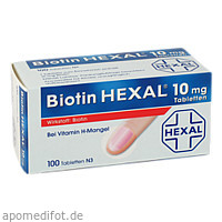 Biotin HEXAL 10mg, 100 ST, HEXAL AG