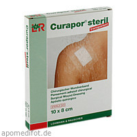 Curapor transparent Wundverband steril 10x8cm, 5 ST, Lohmann & Rauscher GmbH & Co. KG