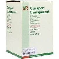 Curapor transparent Wundverband steril 7x5cm, 50 ST, Lohmann & Rauscher GmbH & Co. KG