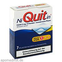 NiQuitin Clear 21mg, 7 ST, Omega Pharma Deutschland GmbH