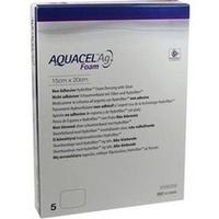 AQUACEL Ag Foam nicht-adhäsiv 15x20cm, 5 ST, Convatec (Germany) GmbH