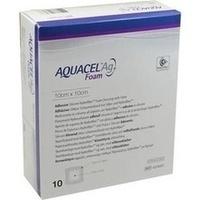 AQUACEL Ag Foam adhäsiv 10x10cm, 10 ST, Convatec (Germany) GmbH