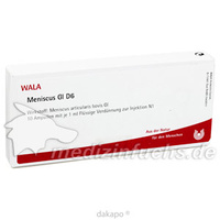 MENISCUS GL D 6, 10X1 ML, Wala Heilmittel GmbH