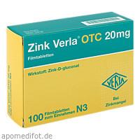 Zink Verla OTC 20mg, 100 ST, Verla-Pharm Arzneimittel GmbH & Co. KG