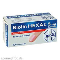 Biotin HEXAL 5mg, 100 ST, HEXAL AG