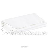Lätzchen f Erw.Folie Frottee weiss m.Auffangtasche, 1 ST, Careliv Produkte Ohg