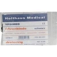 Ohrenbinde mit Band schwarz (lang), 1 ST, Holthaus Medical GmbH & Co. KG